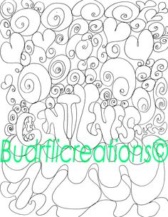 Gentleness Adult Coloring Page Inspirational Art Print Black and White Drawing Digital Download by Budrflicreations on Etsy