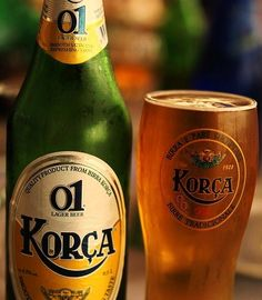 Beer Korça, the most popular Albanian beer.