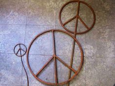 Peace signs for sale on Etsy from bluemetal design. www.bluemetal.etsy.com