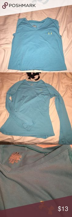 UA long sleeve cool wick shirt Worn and washed 2 times - black mark as pictured in last pic. Good condition other than that Under Armour Tops Tees - Long Sleeve
