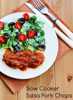 Kalyn's Kitchen®: CrockPot Recipe for Salsa Pork Chops with Cumin, Garlic, and Lime