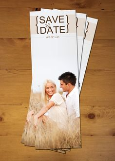 adorable save the date bookmark!