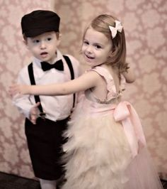 Flowergirl and Ringbearer! So cute