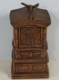 Vintage Grandfather Clock Cookie Jar made in USA by Treasure Craft