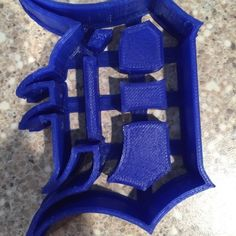 Download on https://cults3d.com #3Dprinting 3D Detroit Tigers Cookie Cutter, pkatsourakis