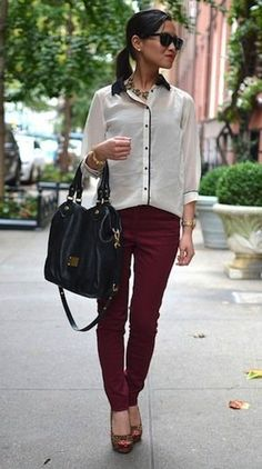 Classy Hart of Dixie-style office look.