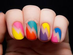 Wow, that's different! Bold Bolts from Chalkboard Nails