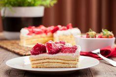 #Cake with #strawberries wall mural for your #homedecor  #art #artforsale #wallmurals #interiordecor #interiordecorideas #interiordecortips #homedesign #decor #sweets #cake #pastry #kitchendecor