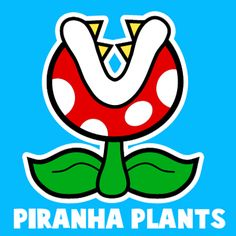 How to draw a Pirahna Plant from Nintendo's Super Mario Bros. with easy step by step drawing tutorial