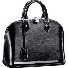 Louis Vuitton Alma Black Epi Noir Electric