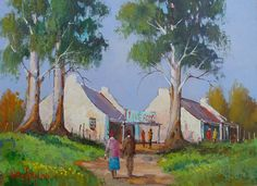 beautiful oil paintings of south african farms Oil Paintings, Landscape Paintings, Fishermans Cottage, Dutch House, South African Artists, Art Pictures, Folk Art, Cape Dutch, Teal
