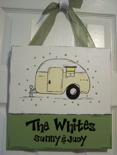 Custom Happy Campers' Sign by GreenPearlPaintshop on Etsy, $26.00
