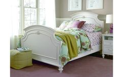 This Gabriella Full Panel Bed is dreamy!