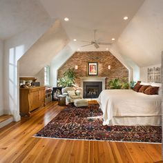 Maybe we could tie in the exposed brick accents from downstairs.