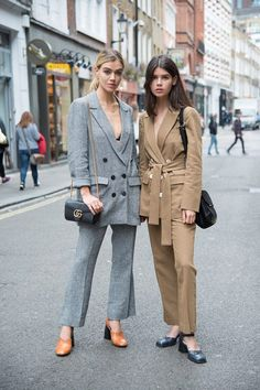 Photo credit: Kirstin Sinclair  See more of the best London Fashion Show street style here: http://lifestyle.one/grazia/fashion/news/london-fashion-week-style-spring-summer/