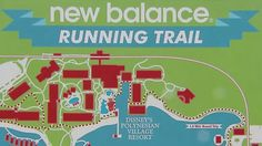 Disney has created and identified more than 16 miles of running/walking trails winding throughout Walt Disney World Resort. Whether you want a leisurely walk, or need to get in a pace or tempo run, New Balance Running Trails are open and ready for you, day or night.