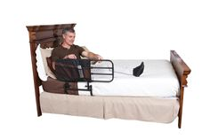 """Adding a support rail to a bed gives caregivers peace of mind because it helps keep loved ones safe, byDaily Care For Seniors and Stander. Standers' 30"""" Safety Bed Rail works well as a side rail for preventing falls, and as a support bar for getting in and out of bed.  #Adjustable_Bed_Rail #Bed_Rail #Bed_Rails #Products_For_Seniors #Senior_Products #Products_For_Elderly #Safety_Rails #Senior_Living #Products_For_Seniors"""