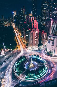 Hustle & bustle of Columbus Circle | NYC  Photography by Anthony Nicholas