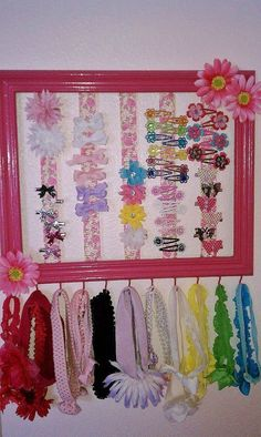 barette and headband holder...need to make something like this