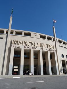 Estádio Municipal Paulo Machado de Carvalho, o estadio do Pacaembu, em São Paulo, SP, Brasil.