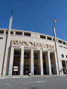 Estádio Municipal Paulo Machado de Carvalho, o estadio do Pacaembú, em São Paulo, SP, Brasil.