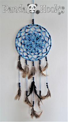 Attrape-rêves façon Mandala. 20 cm de diamètre : Décorations murales par panda-hook-s