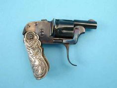 Scarce and Unique Belgian Novo Folding-Grip Pocket Revolver by D.D. Oury