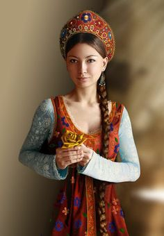 russian traditional look