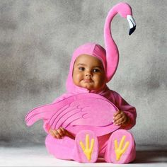 FLAMINGO COSTUME - I need a my 9 year old to be a baby again! OMG love this!!!