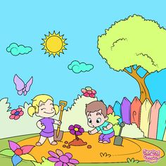 do you like spring kids certainly do spring coloring pages
