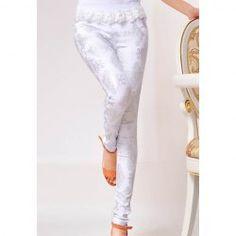 Glamour Slim Fit Retro Style Printing Leggings For Women
