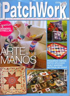 Patchwork magazine with many good ideas and patterns for appliqué Lone Star Quilt, Star Quilts, Quilt Blocks, Quilting Tips, Quilting Projects, Sewing Magazines, Free Magazines, Cross Stitch Magazines, How To Make Purses