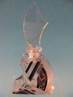 Art Deco perfume bottle. Czech glass, circa 1920s.