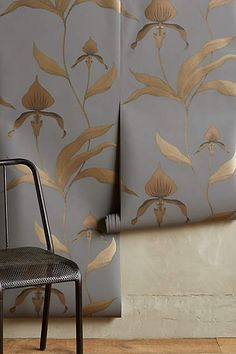 Climbing Orchid Wallpaper - anthropologie.com