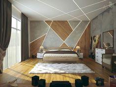 Gorgeous Apartment Ceiling Design Ideas That Inspiring 13 Bedroom False Ceiling Design, Luxury Bedroom Design, Bedroom Bed Design, Bedroom Ceiling, Home Decor Bedroom, Bedroom Wall, Bedroom Designs, Modern Ceiling Design, Fall Ceiling Designs Bedroom
