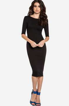 Powerful Bodycon Midi Dress...like this but white with a tie on  lace train:)