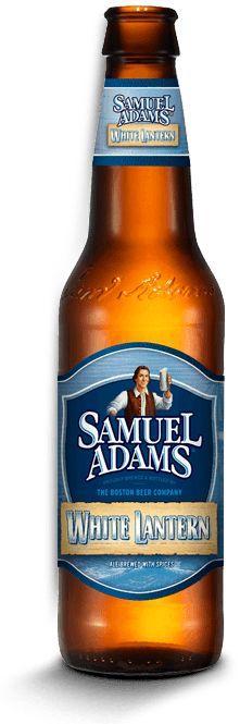 Cerveja Samuel Adams White Lantern, estilo Witbier, produzida por Boston Beer Company, Estados Unidos. 5.5% ABV de álcool.