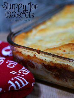 Sloppy Joe Casserole: A simple way to make a quick Sloppy Joe Casserole that will have your family begging for more! Get the recipe on cravingsofalunatic.com (@CravingsLunatic)