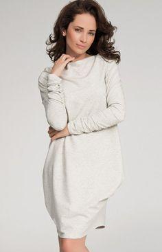 d2f8b59383 Numinou NU31 sukienka beżowa - Sukienki damskie Numinou - Modne sukienki  damskie - Sukienki na wesele - MODA DAMSKA - Sklep