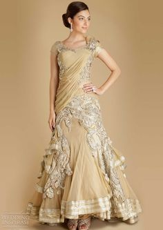 Detailed bridal outfit!