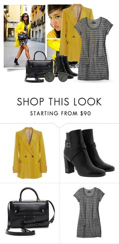 """Yellow and Back Kinds of Beautiful - Fashion"" by erina-i ❤ liked on Polyvore featuring Blazé Milano, Yves Saint Laurent, Maison Margiela, Smartwool and Ray-Ban"