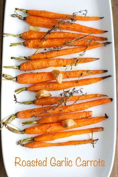 Looking for a quick and easy side dish recipes? Roasted Garlic Carrots are quick, easy, and so yummy!