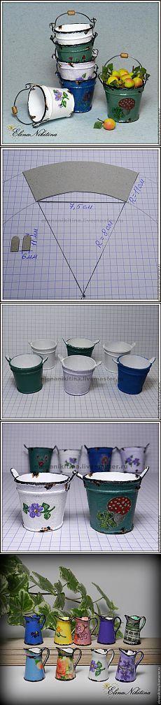 Мастер-класс: эмалированное ведро в миниатюре.