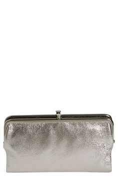 Hobo 'Lauren' Metallic Double Frame Clutch available at Double Frame, Silver Clutch, Travel Light, Clutch Wallet, Metallic, Nordstrom, Products, Fashion, Moda