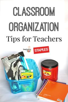 Now that it's mid-way through the year, it's time to get your classroom organized with these easy tips and ideas! #spon