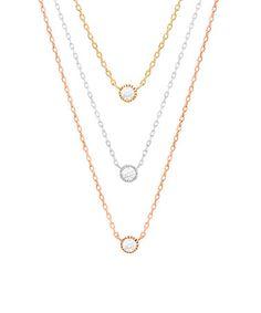 Cubic Zirconia & Tri-Tone Triple Drop Necklace #zulily #zulilyfinds