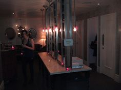 Champagne Bar in the Ladies Room at Beauty & Essex, NYC