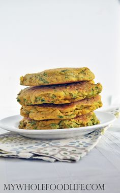 Make these spinach chickpea omelets for a savory breakfast option. I serve mine with a side of roasted vegetables. Vegan and gluten free.