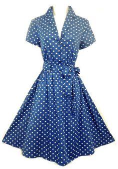 Blue Polka Dot Tea Dress Size 10 Rosa Rosa http://www.amazon.co.uk/dp/B00A4EH4C4/ref=cm_sw_r_pi_dp_0u-ovb12Y70P8