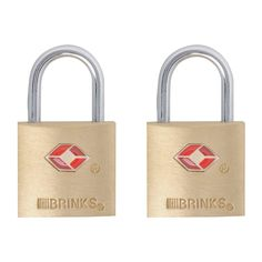 Brinks TSA Approved Luggage Lock Solid Brass, Lock body is solid brass 2 Pack, keyed alike Accepted by TSA Travel Sentry Approved Lifetime Warranty